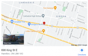 698 King St. E - Map